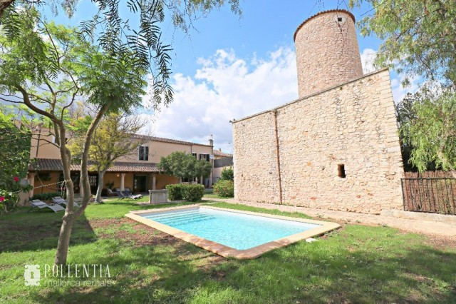 Manor house for rent in Binissalem with pool